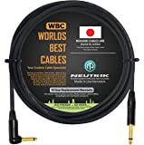 10 Foot - Guitar Bass Instrument Cable Custom Made by WORLDS BEST CABLES – Using Mogami 2524 Wire and Neutrik NP2RX-B…