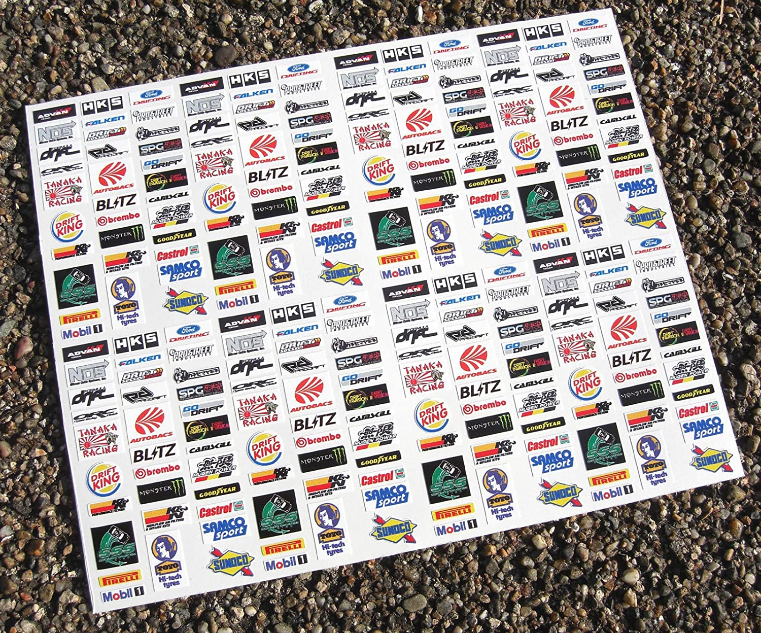 Slot car scalextric 1 32nd drift japan sponsor logo stickers decals amazon co uk car motorbike