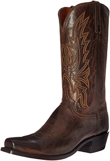 Men's Lucchese Bootmaker N1556-54, Size: 10 2E, Chocolate Burnished Mad Dog Goat