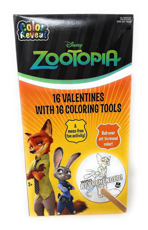 Zootopia Valentines 16 Coloring Tools