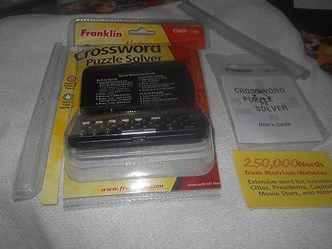 amazon com franklin cwp 100 crossword puzzle solver electronics