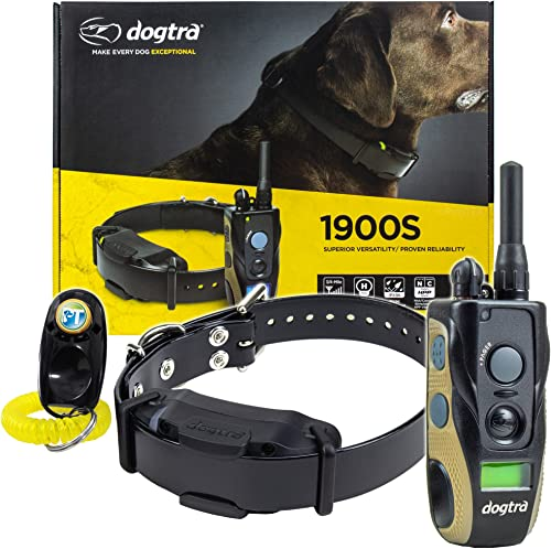 Dogtra 1900S 1902S Remote Training Collar – 3 4 Mile Range, Waterproof, Rechargeable, Vibration – Includes PetsTEK Dog Training Clicker