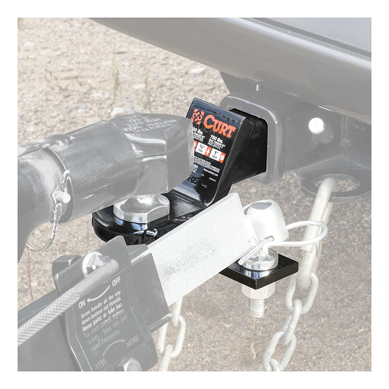1-Inch Ball Hole Fits 2-Inch Receiver 2-Inch Drop GTW 5//8-Inch Sway Ball Hole CURT 45820 Anti Sway Hitch Ball Mount 3//4-Inch Rise 7,500 lbs