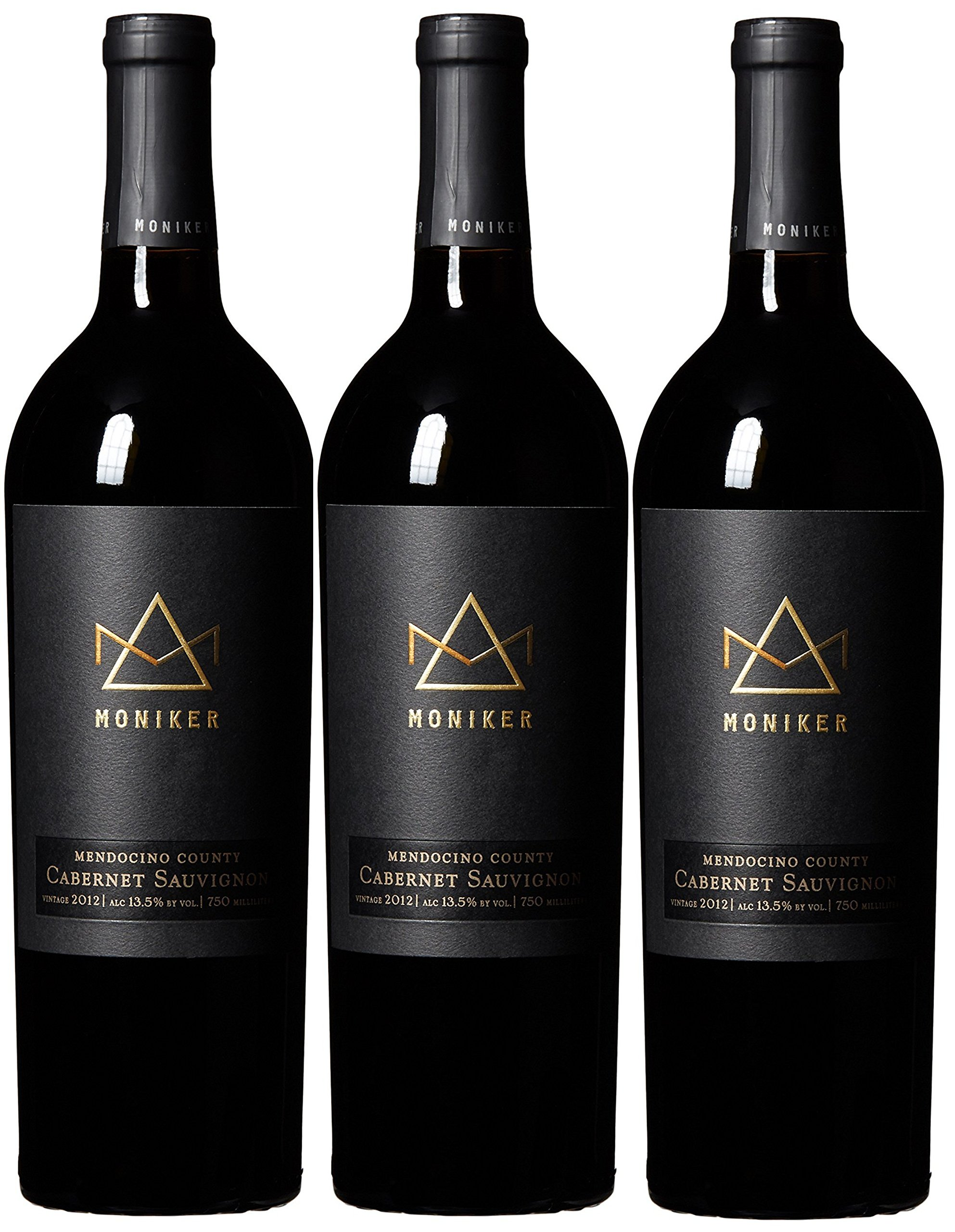 Moniker Estates Mendocino County Cabernet Sauvignon Pack, 3 x 750 mL