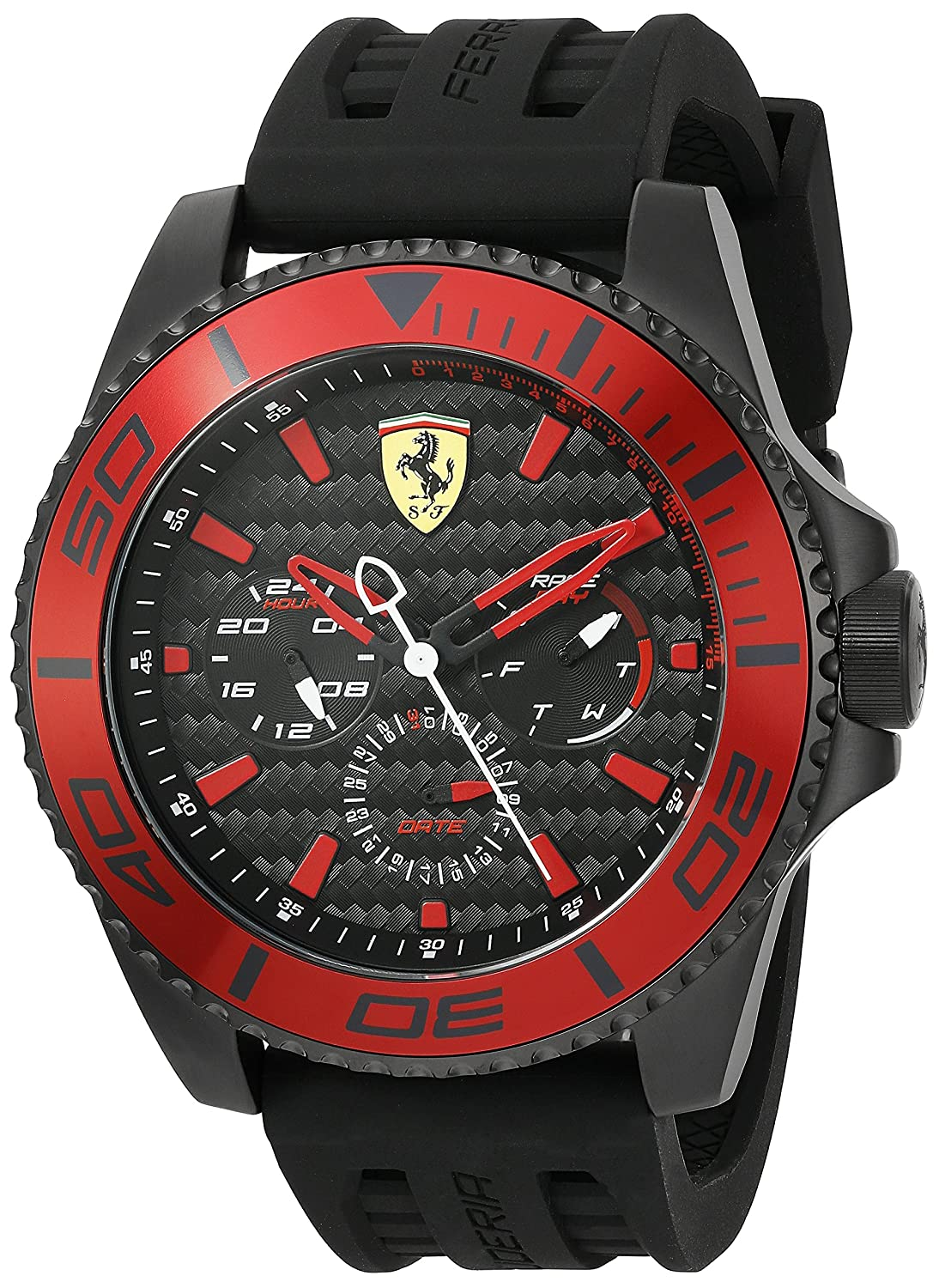 Ferrari Men 0830310 XX KERS Analog Display Japanese Quartz Black Watch