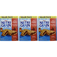 3-Pack of 16-Count Kellogg's Nutri-Grain Cereal Bars (Strawberry Big Pack)