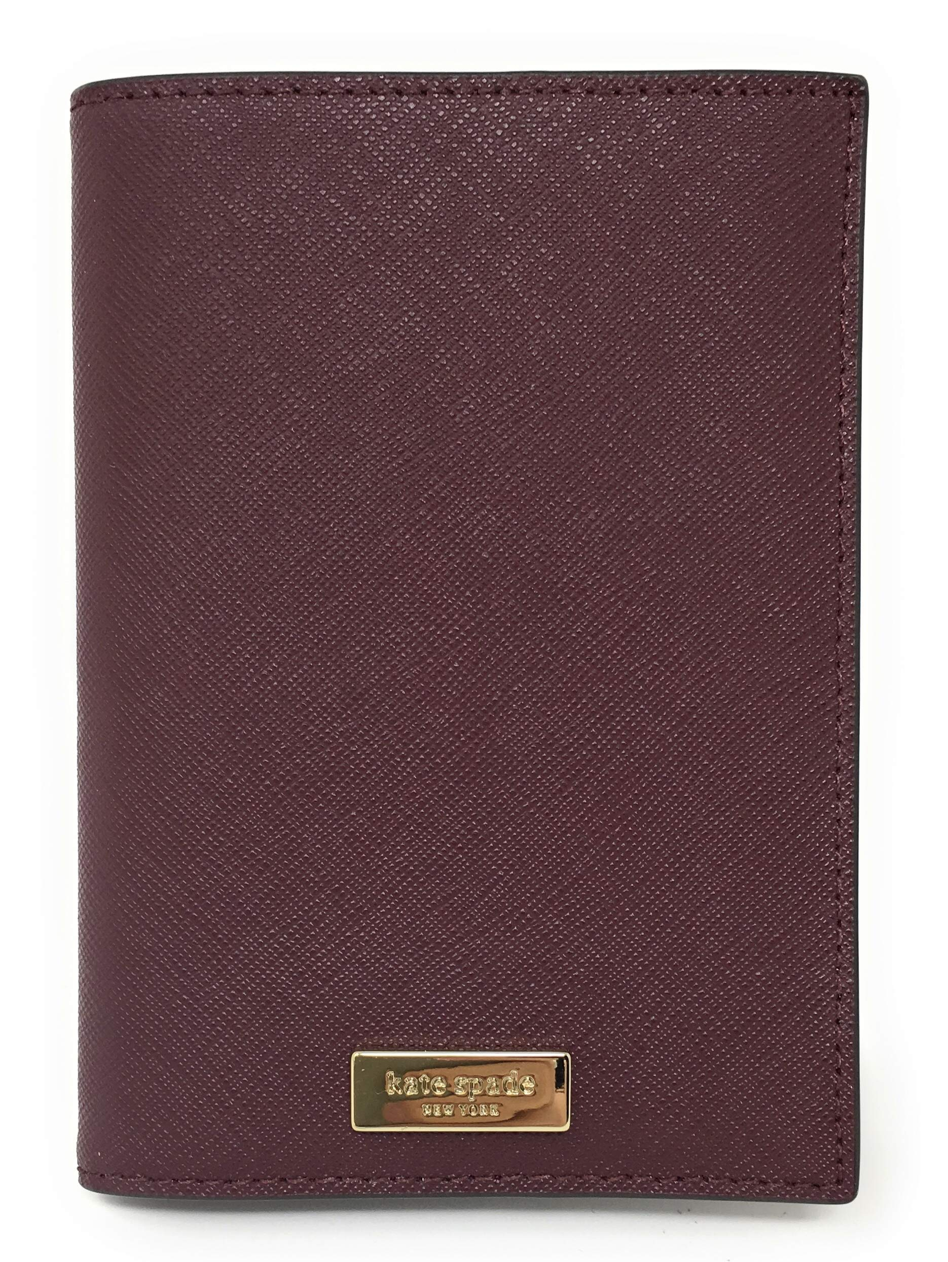 Kate Spade Laurel Way Saffiano Leather Passport Holders (Cherrywood) by Kate Spade New York