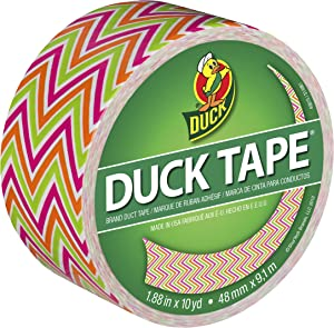 Duck Brand, Zig Zags, 280978 Printed Duct Tape, 1.88 Inches x 10 Yards, Single Roll