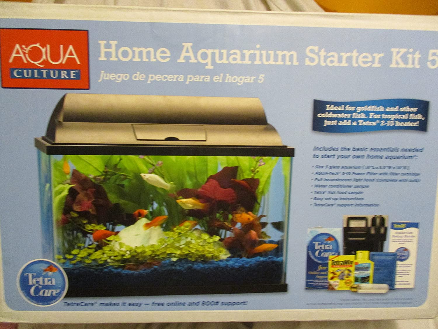 Amazon.com : Aqua Culture Home Aquarium Starter Kit 5 : Pet Supplies
