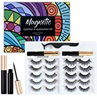Happy Heartbeat Magnetic Fake Eyelashes Kit, 2020 New upgrade 10 pairs No Glue Needed,3D Faux Mink Lashes Cross Fluffy…