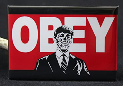 Amazon com: Obey Refrigerator Magnet  They Live (Red / Black