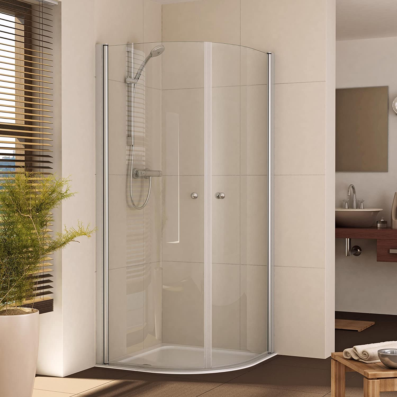 Mampara de ducha cabina de ducha redondo de cuadrante 90 x 90 ...