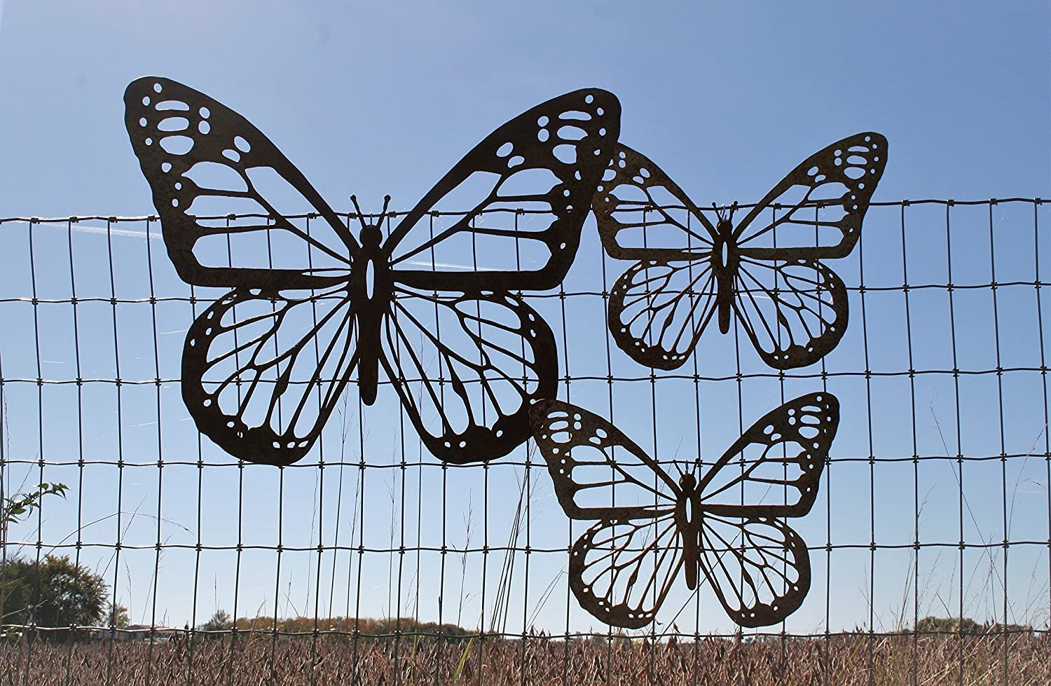 Rustic Butterfly Set - 1 Giant and 2 Medium