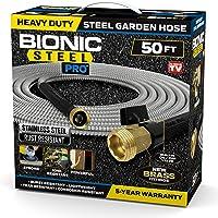 Bionic Steel PRO Garden Hose - 304 Stainless Steel Metal 50 Foot Garden Hose – Heavy Duty Lightweight, Kink-Free, and…