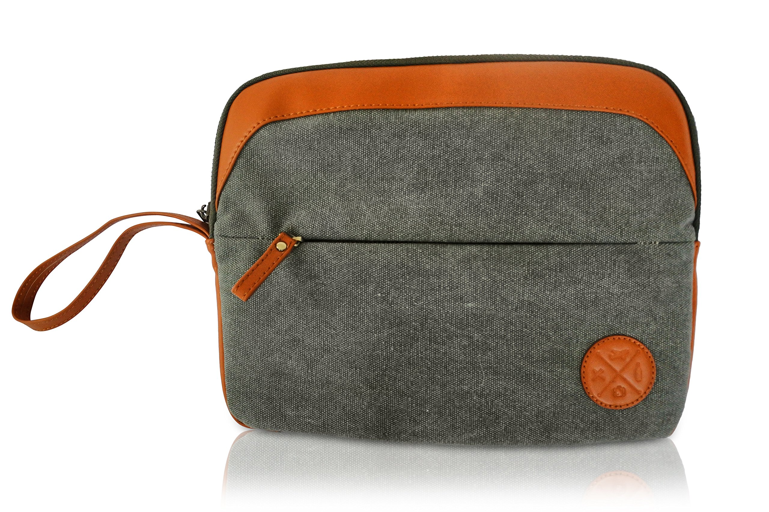 4 Piece Weekend Travel Bag Set - Includes: Canvas Tote, Toiletry Kit, Ipad Wristlet and Weekender Shoulder Bag. Weekend Travel made simple by TASTE DRINK GO. Makes a great Gift! by Taste Drink Go (Image #4)