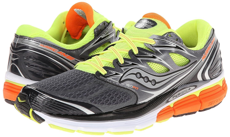 Saucony Hurricane ISO Grey/Citron/Orange Men's Running Shoes 8452544