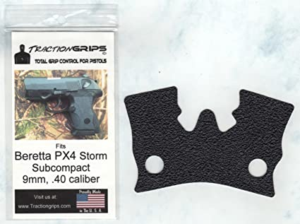 Tractiongrips grip overlay decal for Beretta PX4 Storm Subcompact 9mm,  40