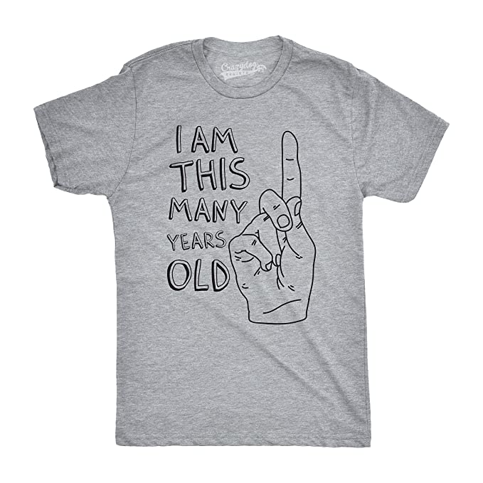 Crazy Dog Tshirts Youth I Am This Many Years Old Funny Hand 1 Year Kids