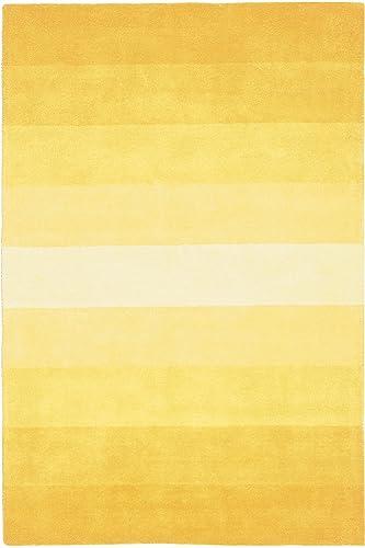 Aspect Stripes Rug, 5-Feet by 8-Feet, Yellow