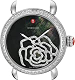 MICHELE Women's MW03T01A1994 CSX Analog Display Swiss Quartz Silver Watch Head