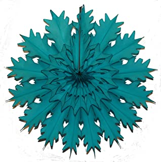 "product image for Devra Party 3-Pack 19"" Tissue Paper Snowflake (Teal Green)"