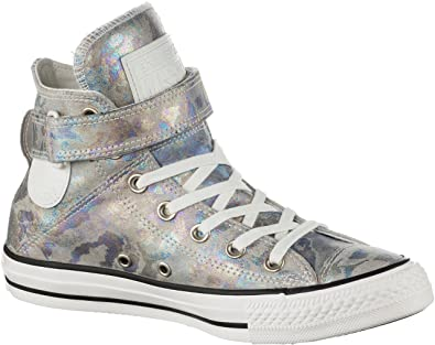 57c69b1068ae09 Converse Brea Hi Top Oil Slick Leather With Ankle Strap Blue 7 UK ...