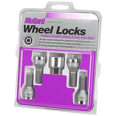 McGard 2015-2020 Fiat 500, Jeep Renegade 27216 Chrome Bolt Style Cone Seat Wheel Lock Set, 4 Locks / 1 Key: Automotive