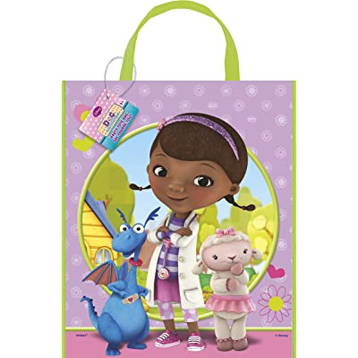 "Large Plastic Doc McStuffins Goodie Bag, 13"" x 11"": Toys & Games"