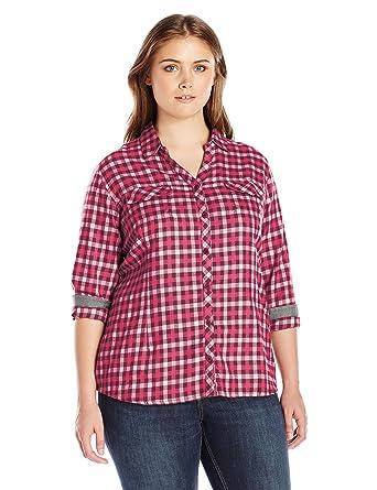 eec46696f4cb4a Columbia Women's Plus SizeSimply Put Ii Flannel Shirt Size, Chianti Check,  ...