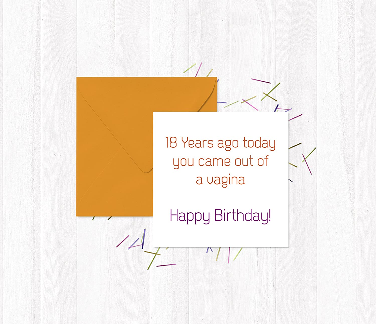 You Came Out of the Vagina Today Funny Birthday Card Custom Greeting Card Congrats its your birthday