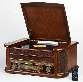 Radio FM con carcasa de madera retro/LW radio retro radio ...