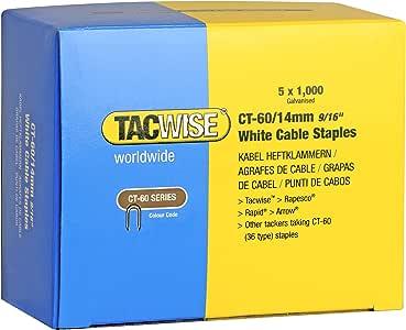 Tacwise 0357 Grapas de cables serie CT-60 x 14 mm de punto