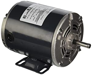 Marathon S006 48 Frame Open Drip Proof 48S17D2090 General Purpose Motor, 1/3 hp, 1800 RPM, 115 VAC, 1 Split Phase, 1 Speed, Ball Bearing, Rigid Base