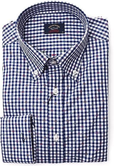 PAUL & SHARK Camisa Casual - Para Hombre Azul 52: Amazon.es: Ropa y accesorios