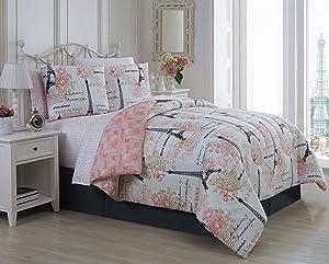 Avondale Manor Amour 8-Piece Comforter Set, Queen, Pink