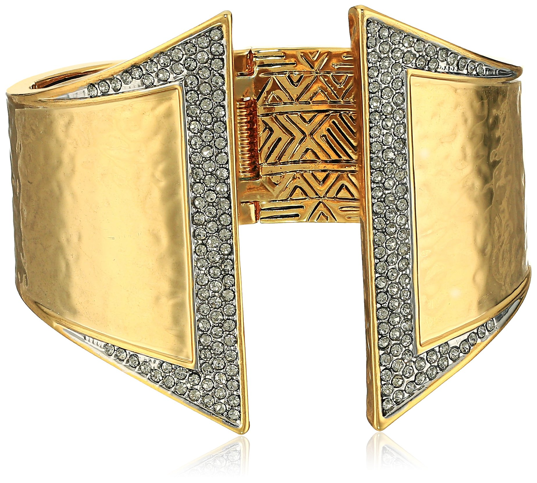 House of Harlow 1960 Golden Scutum Hinge Cuff Bracelet