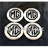 MG EMBLEM WHEEL CENTER CAP STICKER LOGO BADGE WHEEL TRIM - 55MM DOME - SET 4