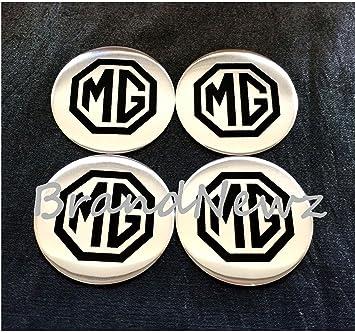 Juego de 4 adhesivos para tapacubos con logotipo de MG, 55 mm: Amazon.es: Coche y moto