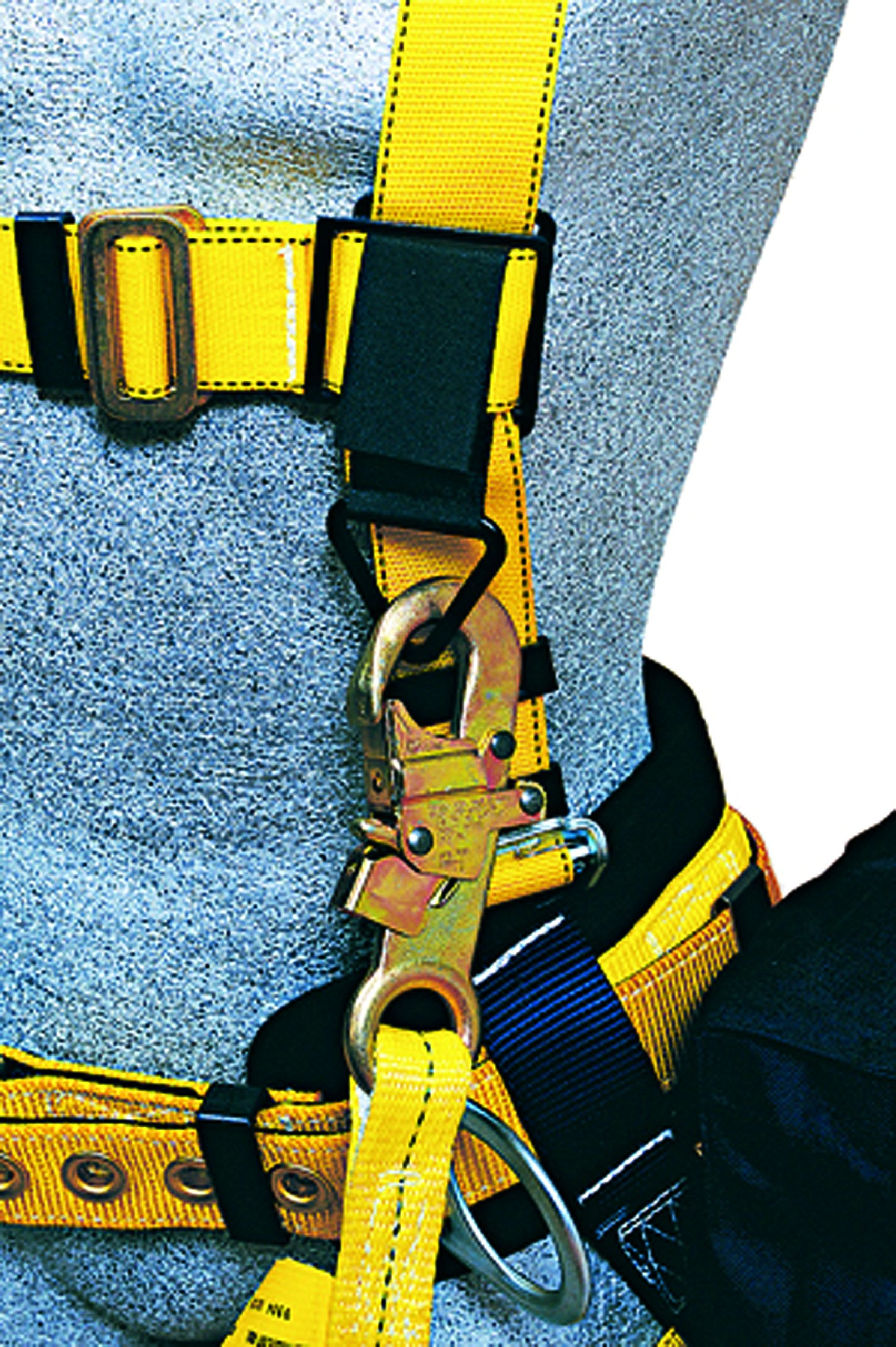 3M DBI-SALA Delta 1101654 Construction Harness, Back/Side D-Rings, Belt w/Sewn-In Back & Shoulder Pads, Tongue Buckle Leg Straps, Medium, Navy/Yellow by 3M Fall Protection Business (Image #9)