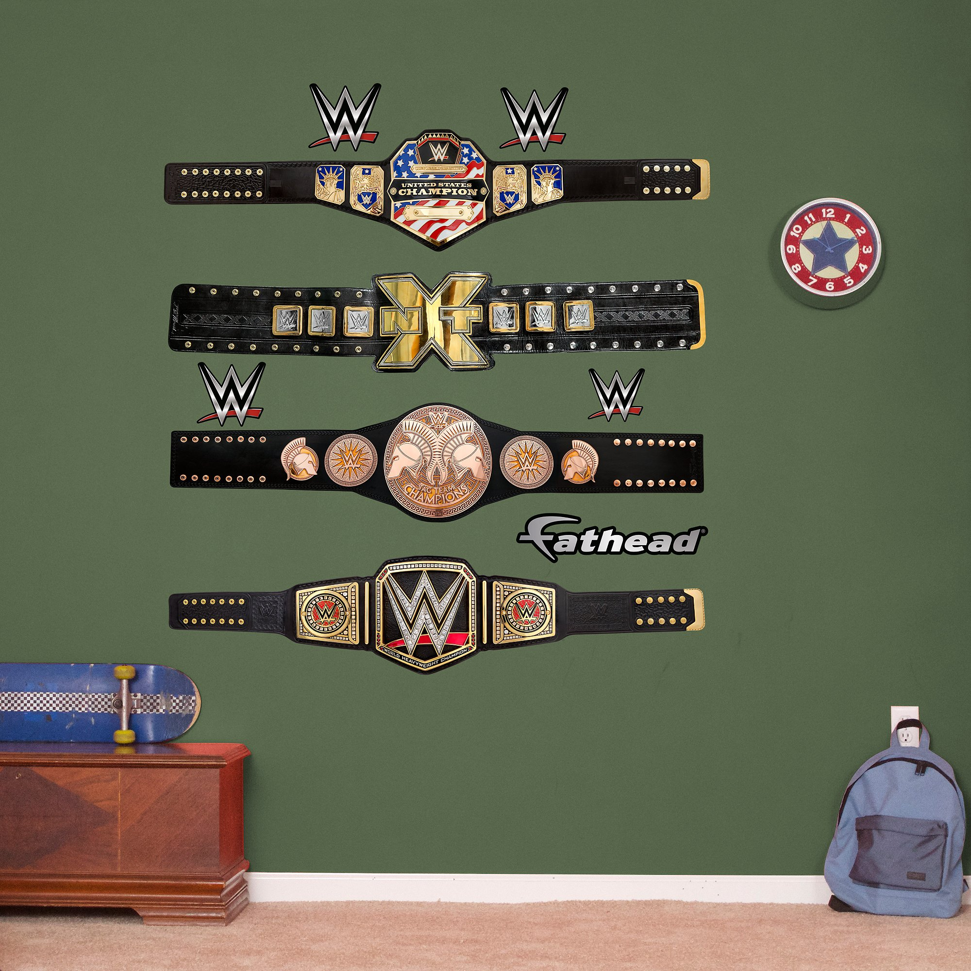 Fathead WWE Title Belts Collection Real Decals
