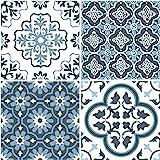 FloorPops FP2951 Myriad Peel & Stick - Azulejo para suelo (plástico), color azul