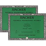 """Arches Watercolor Paper Block, Cold Press, 7"""" x 10"""", 140 Pound - 2 Pack"""