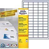 Avery Zweckform 3666 Universal-Etiketten (A4, Papier matt, 6,500 Etiketten, 38 x 21,2 mm) 100 Blatt weiß