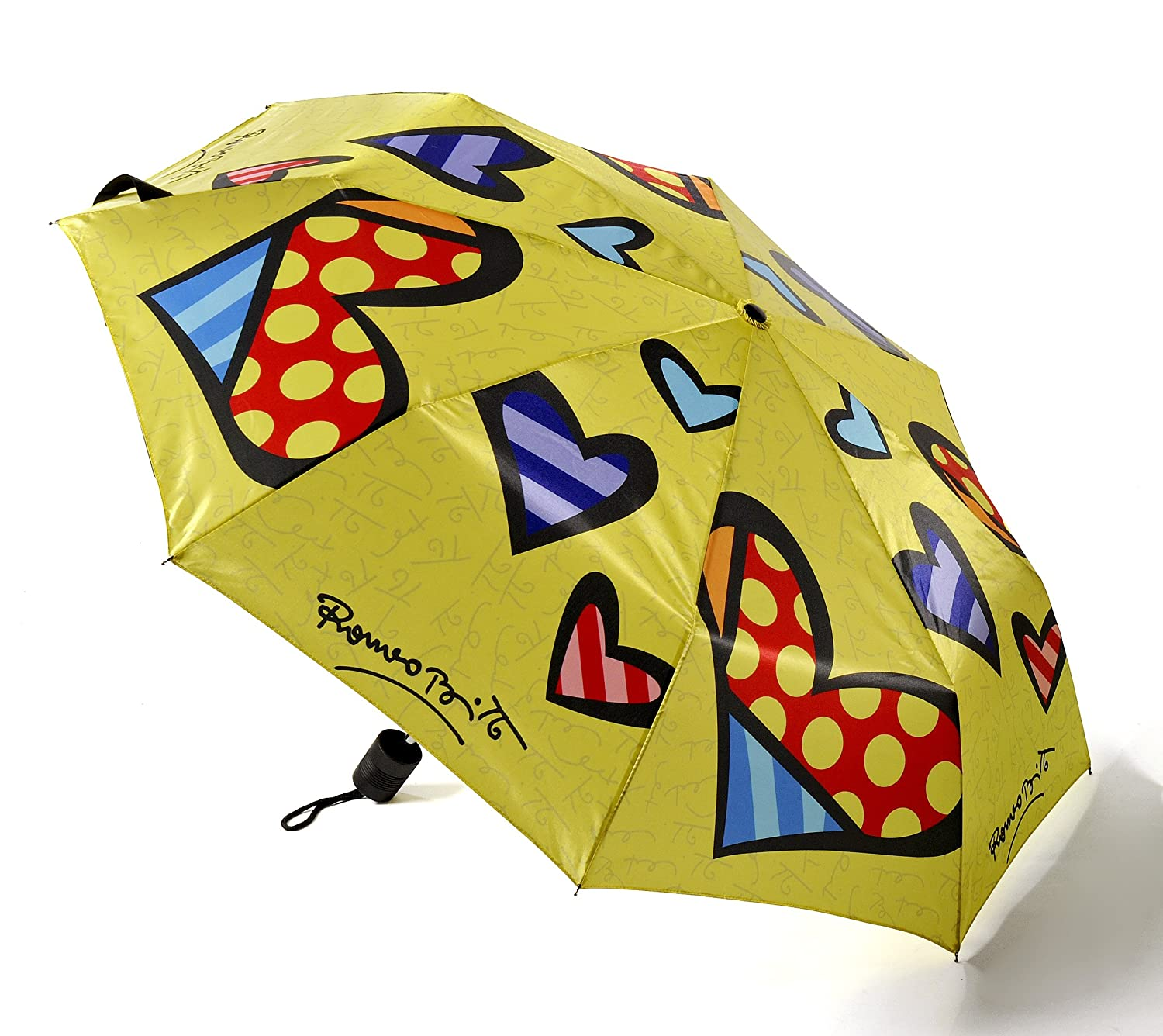 Romero Britto Travel Size Umbrella-Heart