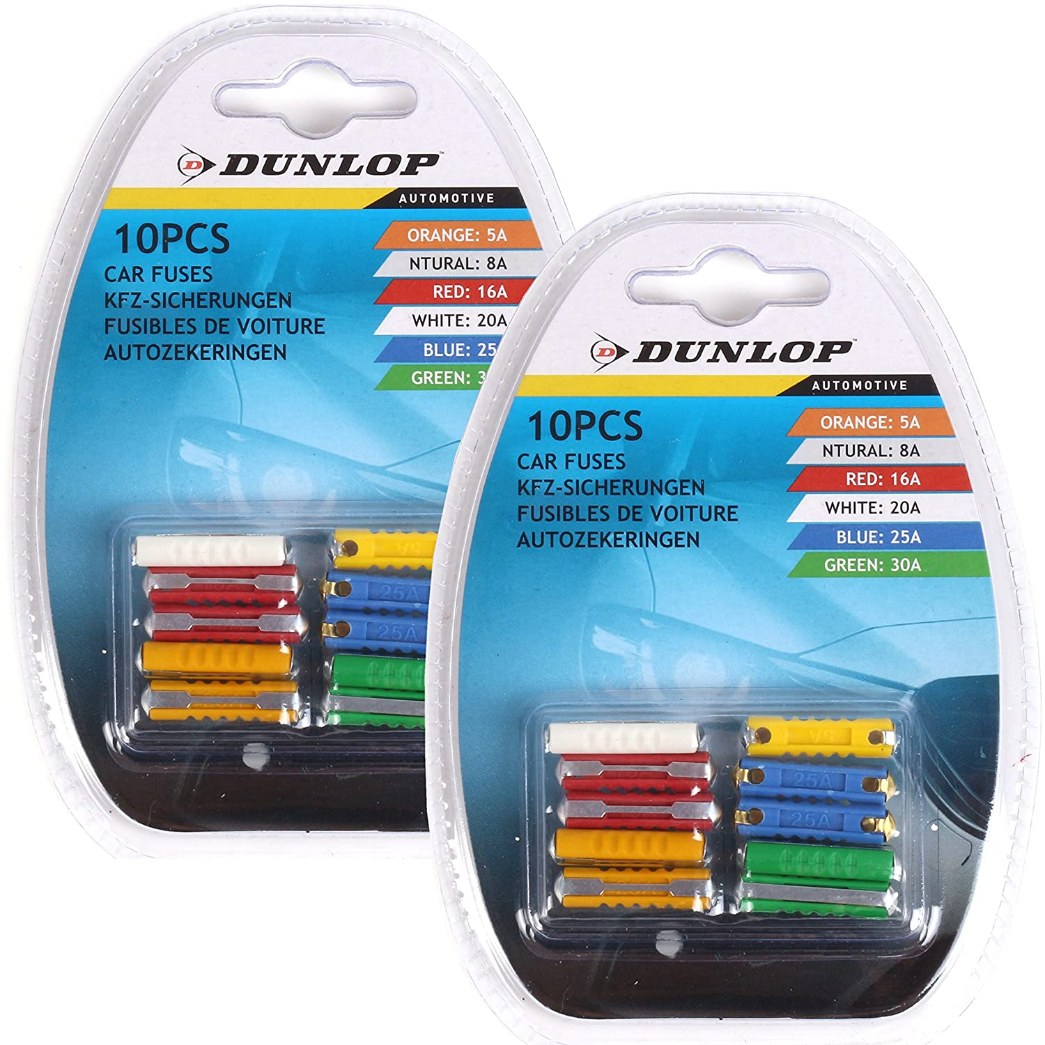 5 x 20amp Yellow Maxi Large Blade Fuses Auto Car Plant HGV APX 29.2 /× 8.5 /× 34.3 mm