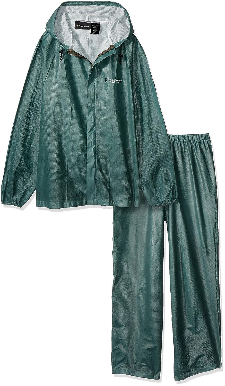 Frogg Toggs Men's Ultra Lite Rain Suit, Green, Medium UL12104