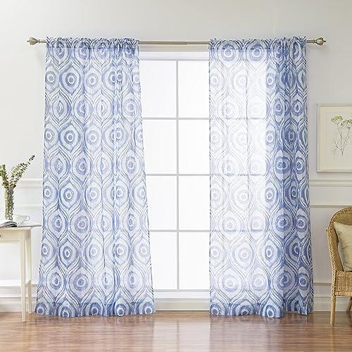 Home Fashion Sunburst Shibori Curtains