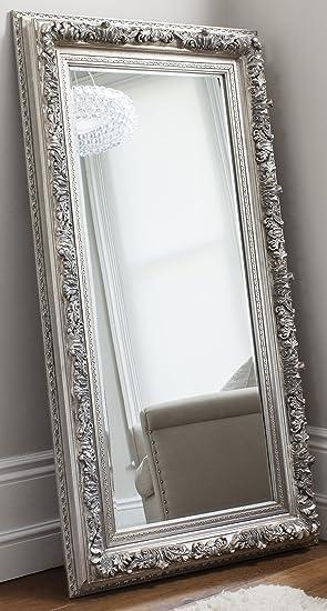 Très Grand miroir mural argenté Longueur 180 cm x 37 cm: Amazon.fr ...