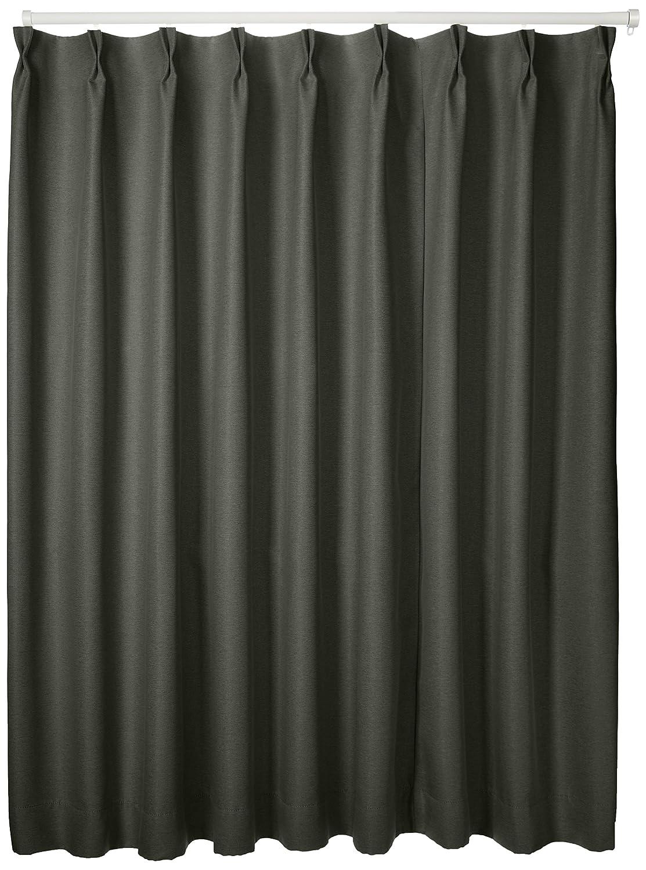 ブリーズ 1級遮光防炎遮熱カーテン 2枚入 巾130cmX丈135cm ブラック B00MHJ23RK 130X135|ブラック ブラック 130X135