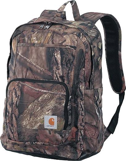 حقيبة ظهر كلاسيكية للعمل من كارهارت ليجاسي مع حقيبة لابتوب مبطنة، بنقشة البلوط
